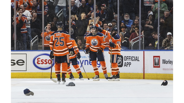 Oilers get hat tricks from Nugent-Hopkins and Draisaitl