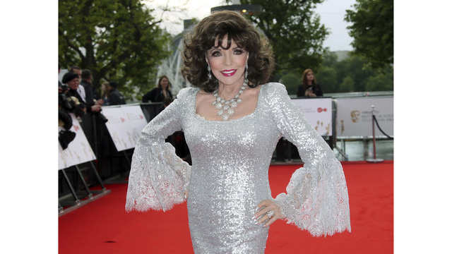 Joan Collins thanks firefighters after London apartment fire