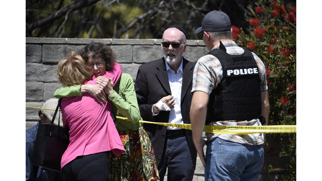 The Latest: Hospital treats 4 injured in synagogue shooting