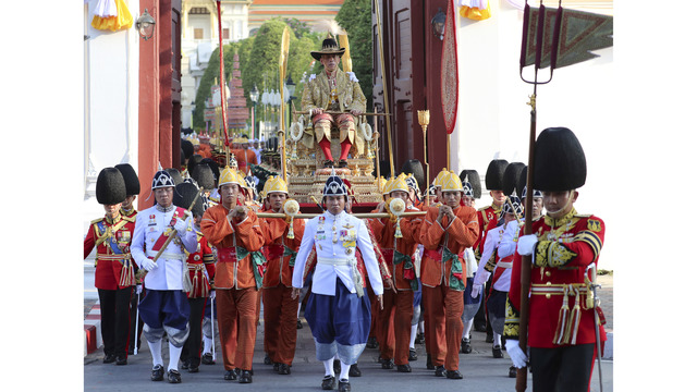 Newly crowned Thai king begins 2nd day of coronation events