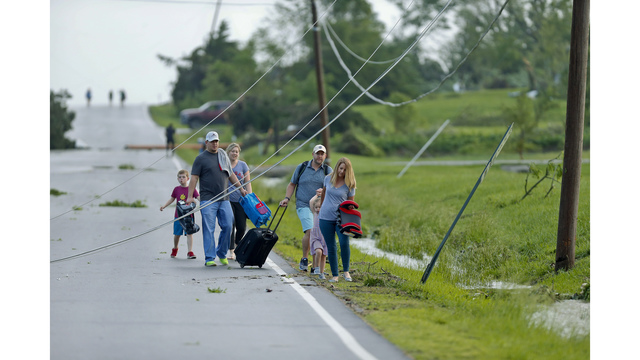 The Latest: Tornado seriously injures 3 people in Kansas