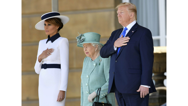 Image result for Trump turns from pomp to business in UK visit