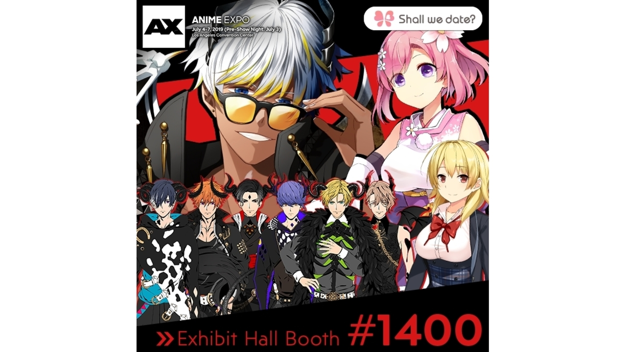 NTT Solmare's Shall we date? Series Attend Anime Expo 2019