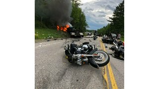 Bikers, military vets mourn 7 killed in rural highway crash